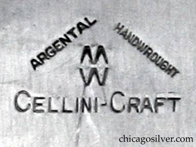Cellini aluminum tray mark