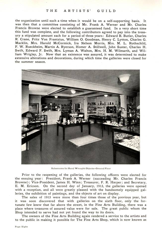 1917 history -- Artists' Guild in Chicago p. 2