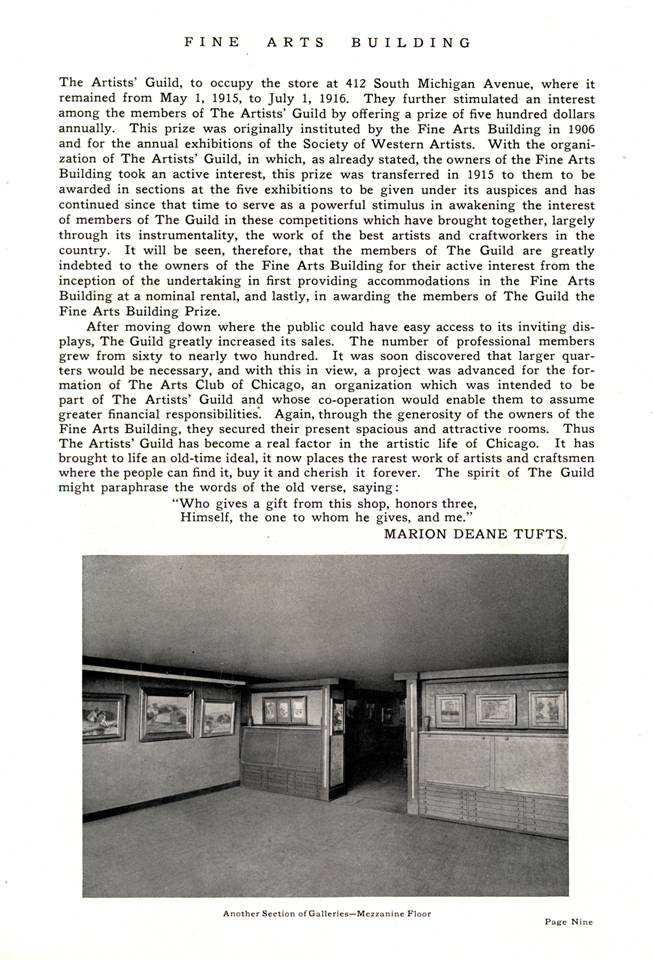 1917 history -- Artists' Guild in Chicago p. 3