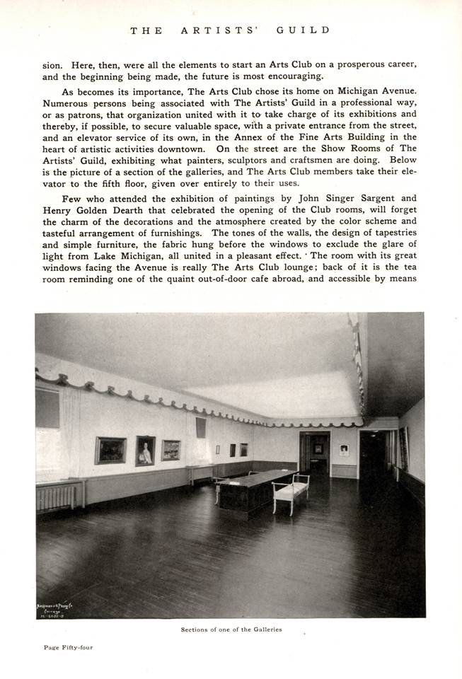 1917 history -- Arts Club of Chicago p. 2