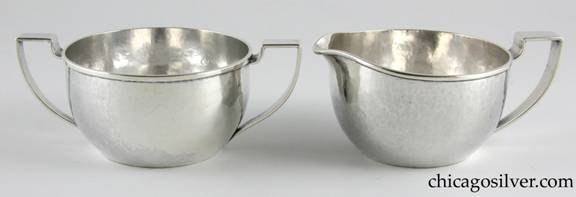 F. S. Boyden cream and sugar set by Eivind (or Elvind) Borsum