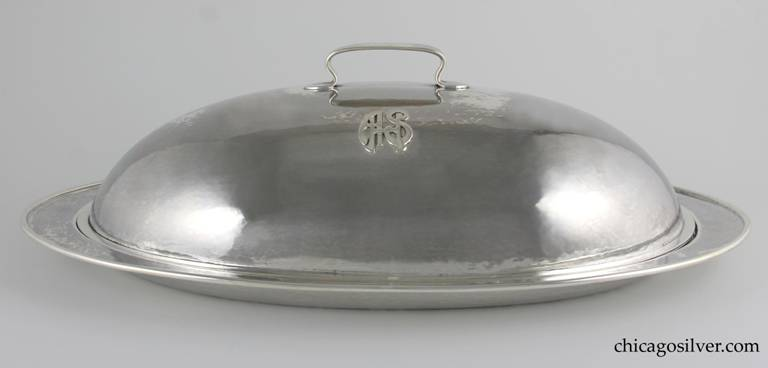 Kalo tray and fitted dome, large and early