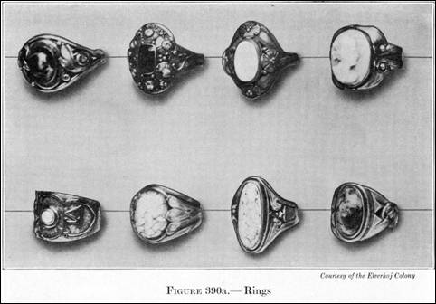 "Elverh�j rings from Varnum's 1916 ""Industrial Arts Design"""