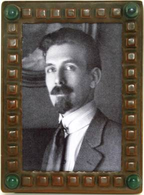 Forest Mann, shown in rare Forest Craft Guild copper picture frame