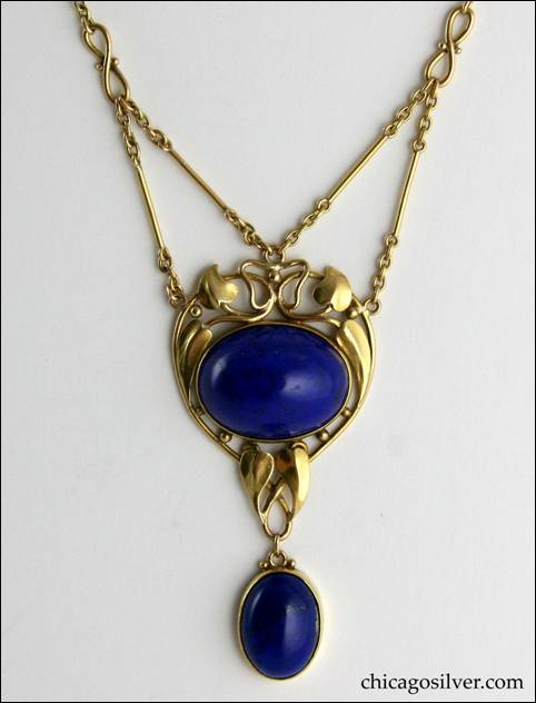 Frank Gardner Hale gold and lapis necklace