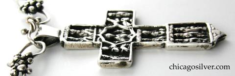 Detail of cross from Mary Gage pendant