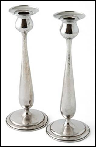 Kalo candlesticks, pair, monumental, in tulip form