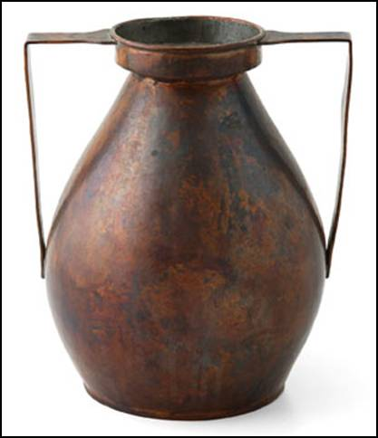 Falick Novick copper jug with handles