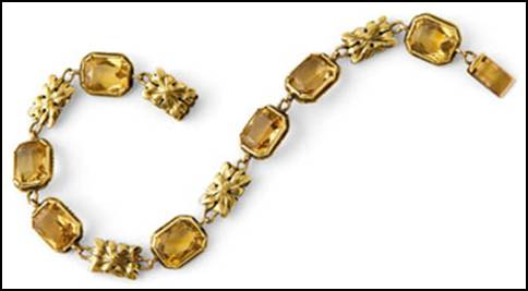 Edward Oakes gold and citrine bracelet