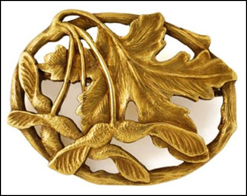 Potter Studio gold brooch