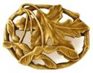 Potter gold brooch