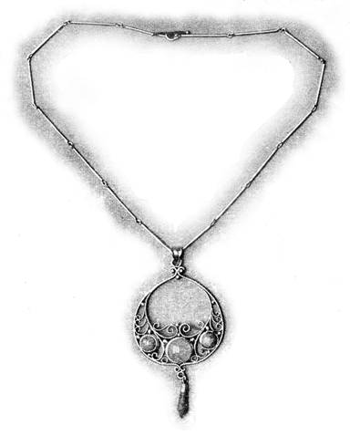 Pendant and chain executed by the pupils of Theodore Hanford Pond, a member of the Handicraft Club of Baltimore.