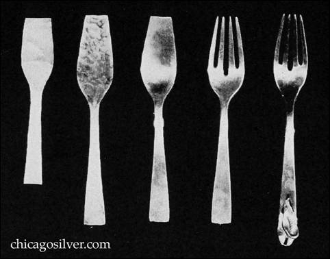FIVE STEPS IN THE HAND PRODUCTION OF FLATWARE by Peer Smed