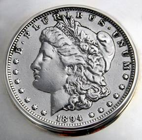 Morgan silver dollar made of 90 percent silver