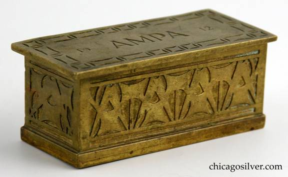 Robert R. Jarvie bronze hinged 1912 AMPA box
