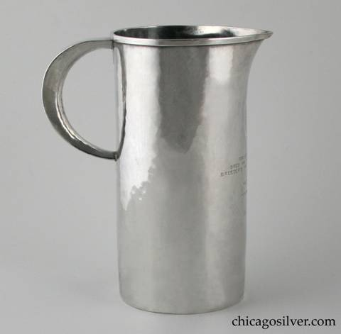 Robert R. Jarvie silver pitcher-form trophy