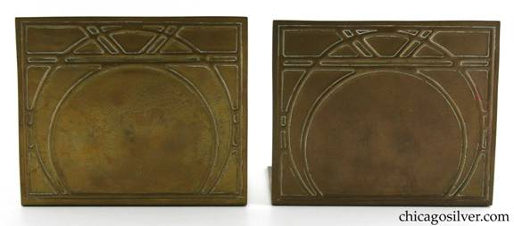 Robert R. Jarvie brass repousse bookends