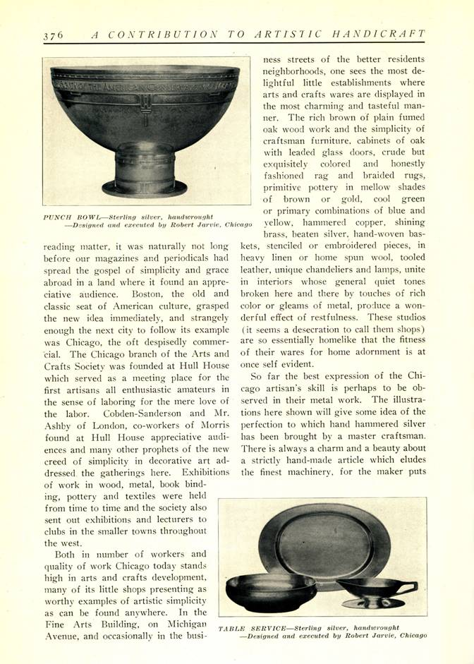 1911 article in the Fine Arts Journal on Jarvie