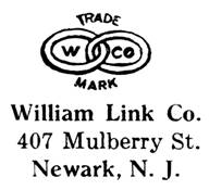William Link Co. jewelry mark