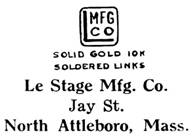 Le Stage Mfg. Co. jewelry mark