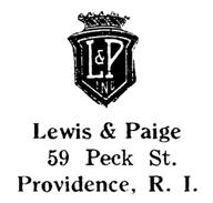 Lewis & Paige jewelry mark