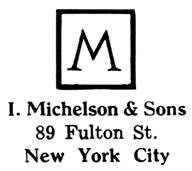 I. Michelson & Sons jewelry mark