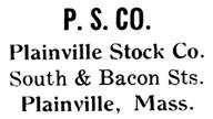 Plainville Stock Co. jewelry mark