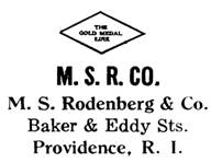 M. S. Rodenberg & Co. jewelry mark