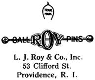 L. J. Roy & Co. jewelry mark