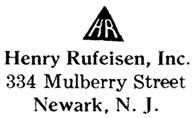 Henry Rufeisen jewelry mark