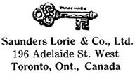 Saunders Lorie & Co. jewelry mark