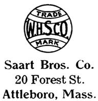 Saart Bros. jewelry mark