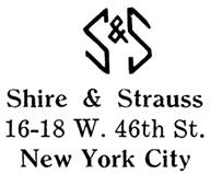 Shire & Strauss jewelry mark