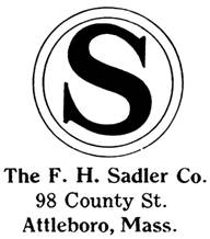 F. H. Sadler Co. jewelry mark