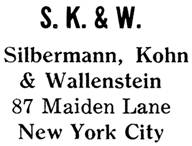 Silbermann, Kohn & Wallenstein jewelry mark