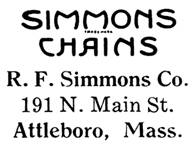 R. F. Simmons Co. jewelry mark