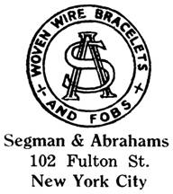 Segman & Abrahams jewelry mark