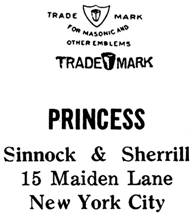 Sinnock & Sherrill jewelry mark