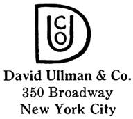 David Ullman & Co. jewelry mark