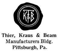 Thier, Kraus & Beam jewelry mark