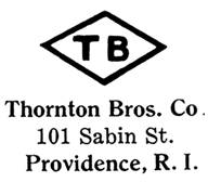 Thornton Bros. Co. jewelry mark