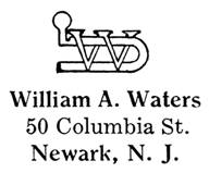 William A. Waters jewelry mark