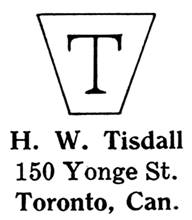H. W. Tisdall jewelry mark