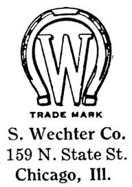 S. Wechter Co. jewelry mark