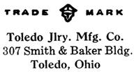 Toledo Jewelry Mfg. Co. jewelry mark