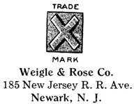 Weigle & Rose Co. jewelry mark