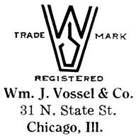 William J. Vossel & Co. jewelry mark