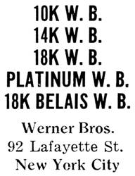 Werner Bros. jewelry mark