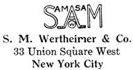 S. M. Wertheimer & Co. jewelry mark