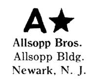 Allsopp Bros. jewelry mark